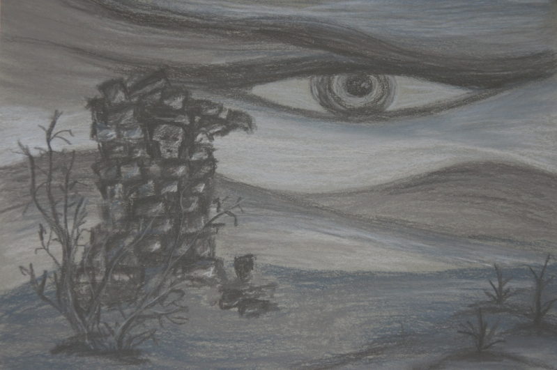Darkness - Painting by Kati